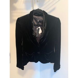 Theory Havel Princess Velvet Black Blazer - NWT